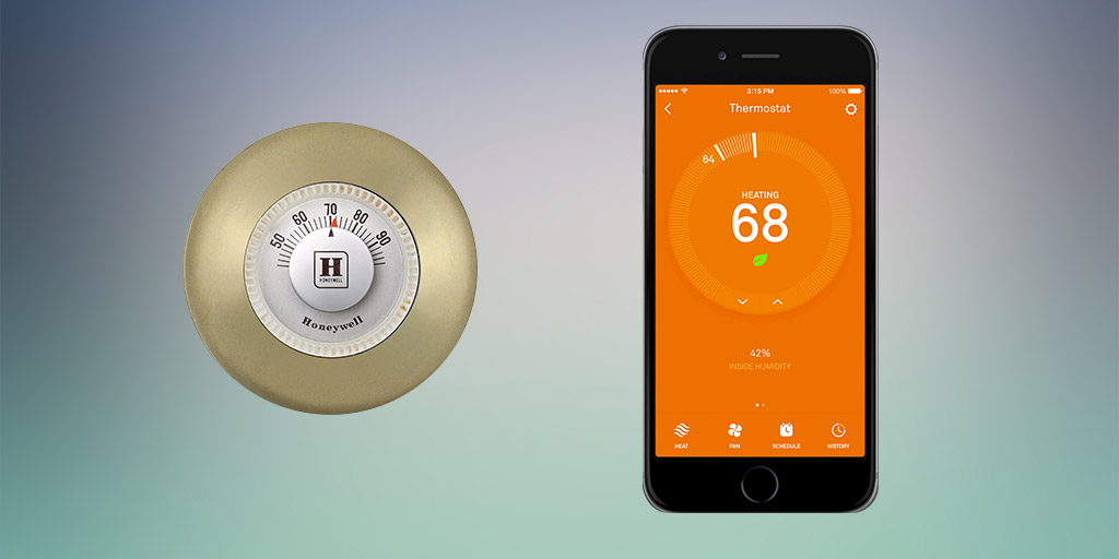 Old thermostat: Meet new thermostat.