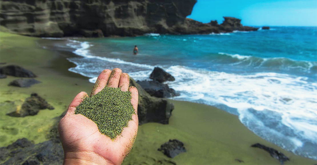Green Beaches by Project Vesta is an innovative technology that spreads olivine on the world's beaches to absorb carbon dioxide.