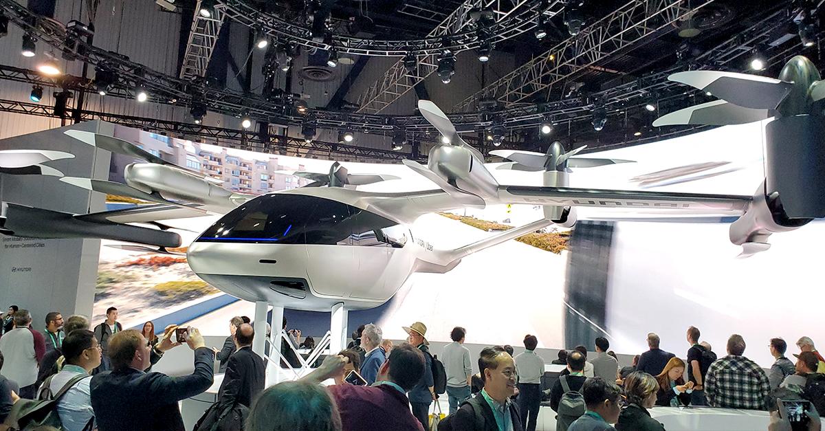 The S-A1 Urban Air Taxi is a partnership between Hyundai and Uber.